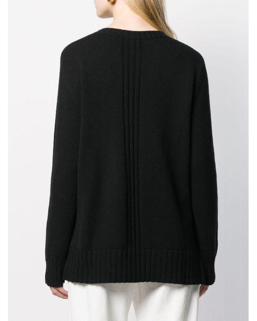 Pull à col ras de cou Alberta Ferretti en coloris Black