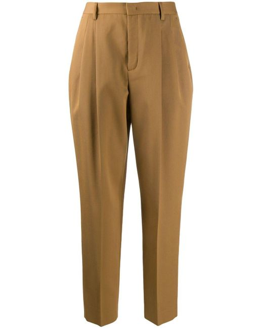 RED Valentino Brown Tapered-Hose mit hohem Bund
