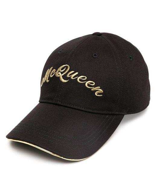 Бейсболка С Вышитым Логотипом Alexander McQueen для него, цвет: Black