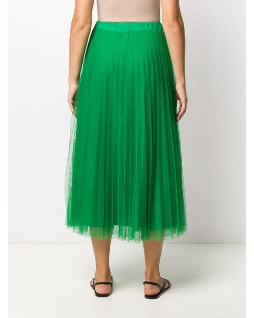 P.A.R.O.S.H. Aライン チュールスカート Green