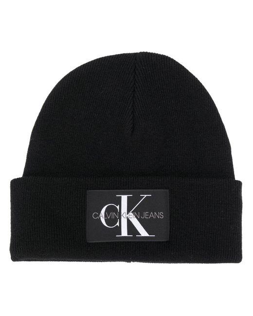 Calvin Klein ロゴパッチ ビーニー Black