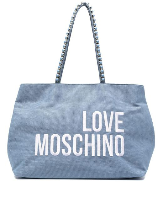 Love Moschino ロゴ トートバッグ Blue