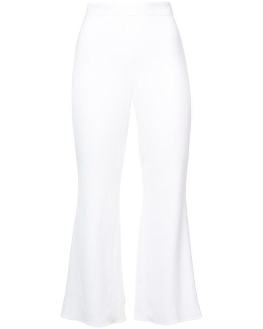 Cushnie et Ochs - White High Waisted Cropped Trousers - Lyst