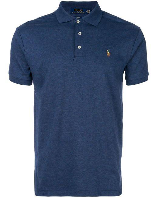 メンズ Polo Ralph Lauren ロゴポロシャツ Blue