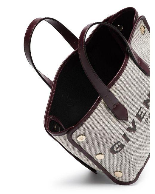 Mini sac cabas Bond Givenchy en coloris Gray