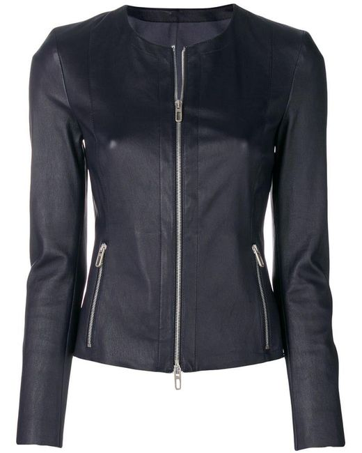 DROMe - Blue Long-sleeved Cropped Jacket - Lyst
