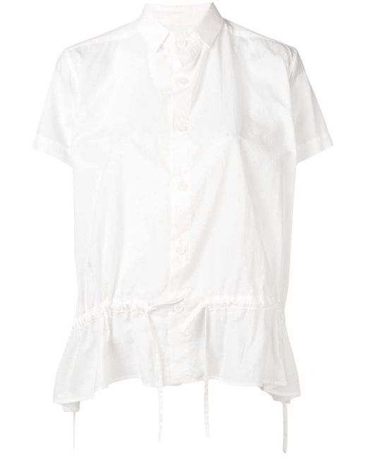 Y's Yohji Yamamoto ギャザー シャツ White