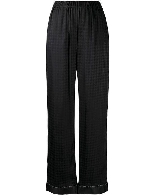 Balmain ジオメトリックパターン パジャマパンツ Black