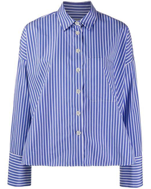 ODEEH ピンストライプ シャツ Blue