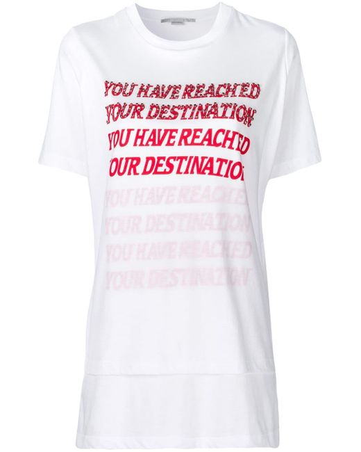 Stella McCartney プリント Tシャツ White