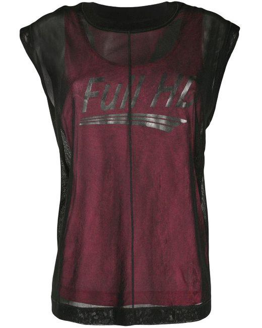 DIESEL T-slicut レイヤード Tシャツ Black