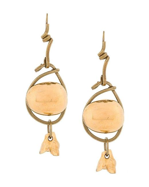Marni - Metallic Stacked Earring - Lyst