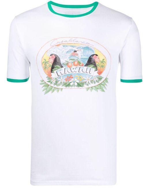 CASABLANCA グラフィック Tシャツ White