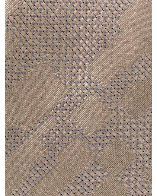 メンズ Giorgio Armani パターン ネクタイ Multicolor