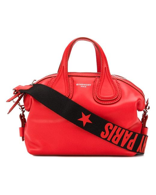 Givenchy | Red Small Nightingale Tote | Lyst