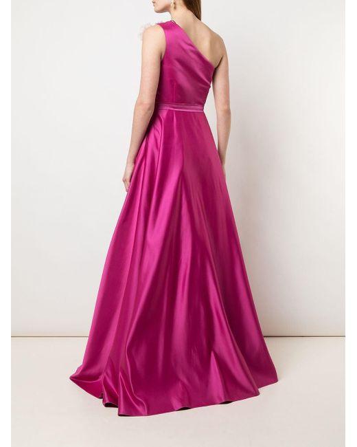 Marchesa notte ワンショルダードレス Pink