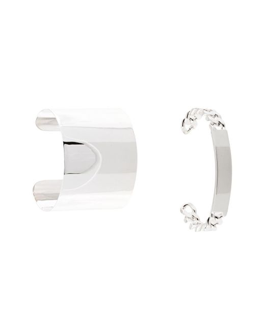 MM6 by Maison Martin Margiela Metallic Chunky Cuff Bracelet Set