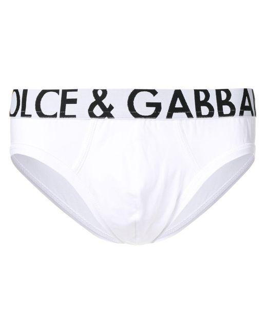 メンズ Dolce & Gabbana ロゴ ブリーフ White
