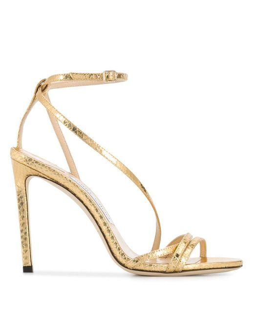 Jimmy Choo Tesca 100 サンダル Metallic