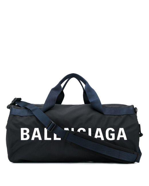 メンズ Balenciaga ウィール ボストンバッグ Blue