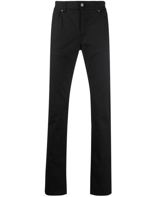 メンズ Moschino ロゴ スリムパンツ Black