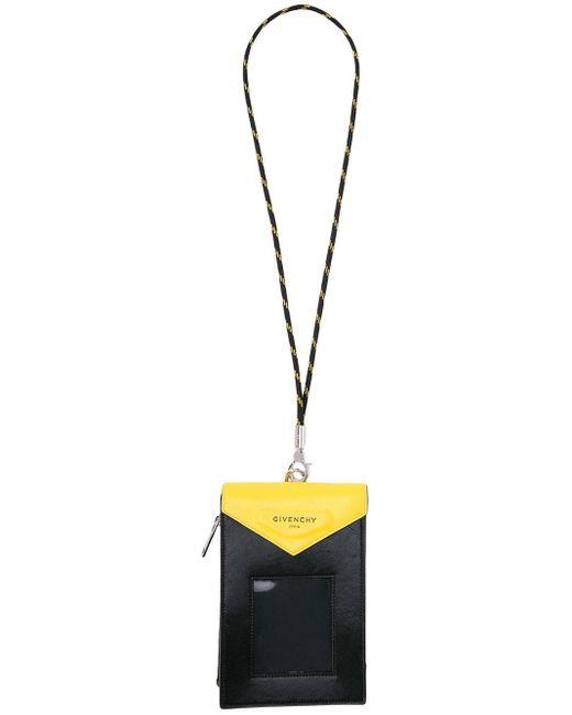 Givenchy Black Neck Strap Cardholder for men