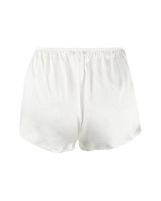 Pantalones cortos con aplique de encaje Gilda & Pearl de color White