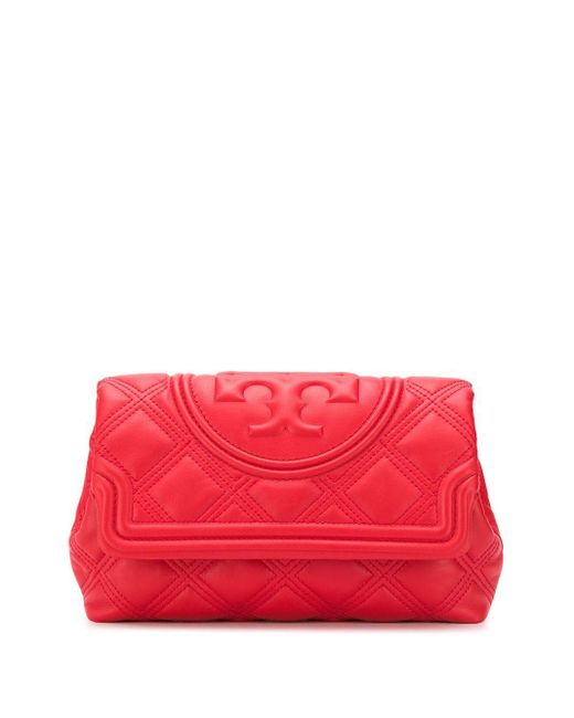 Tory Burch Fleming クラッチバッグ Red