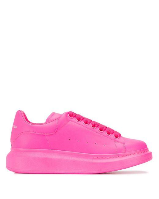 Alexander McQueen Zapatillas Oversized de mujer de color rosa