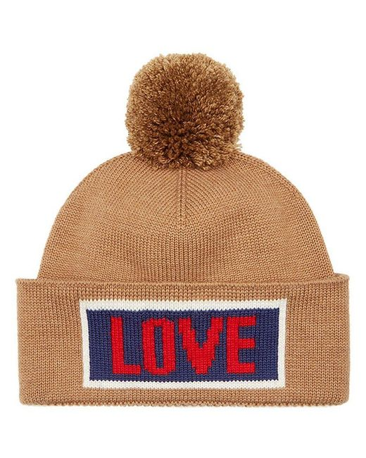 fb71063c1be Fendi - Multicolor Love Slogan Beanie Hat for Men - Lyst