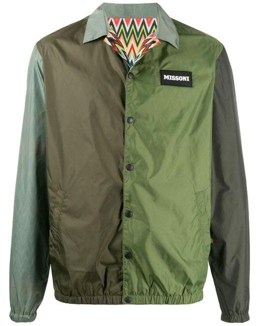 メンズ Missoni カラーブロック ジャケット Green