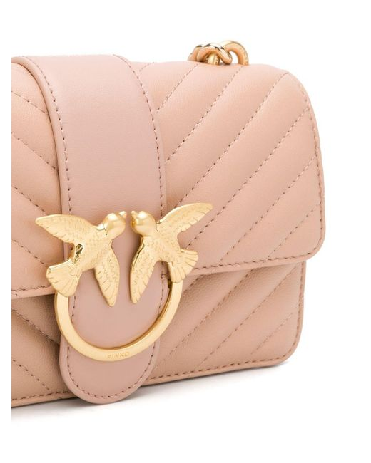 Стеганая Сумка Через Плечо Love Icon Mini Pinko, цвет: Pink