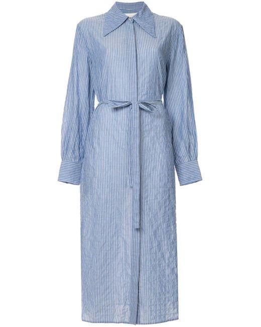 Karen Walker オーバーサイズカラー ドレス Blue