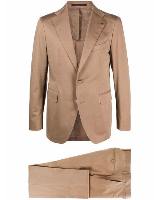 メンズ Tagliatore テーラード シングルジャケット Brown