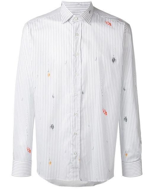Etro | White Striped Shirt for Men | Lyst