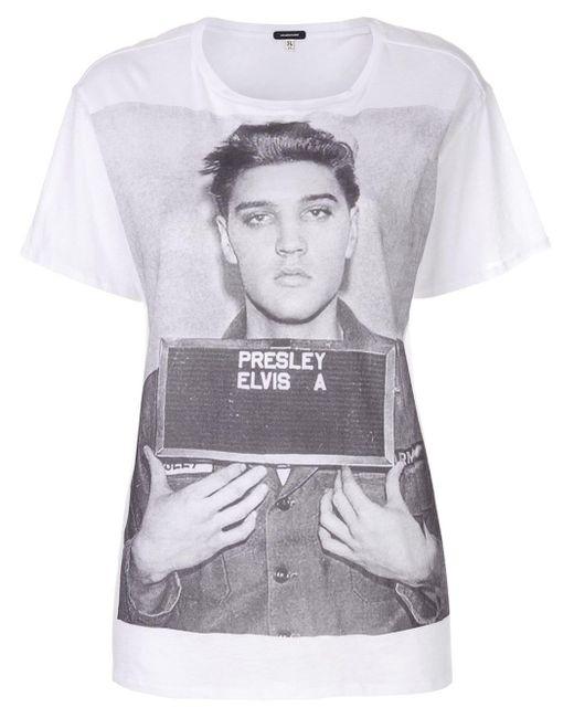 R13 Elvis Tシャツ White