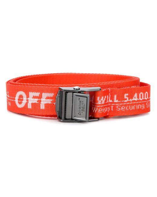 Off-White c/o Virgil Abloh Industrial ベルト Orange