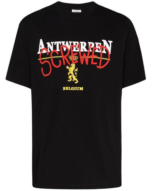 T-shirt Screwed Vetements pour homme en coloris Black