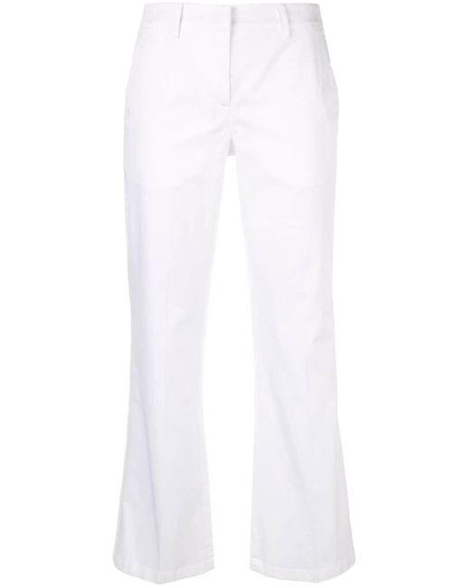 N°21 クロップド フレアパンツ White