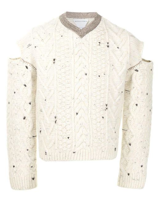 Джемпер С Разрезами Bottega Veneta для него, цвет: White