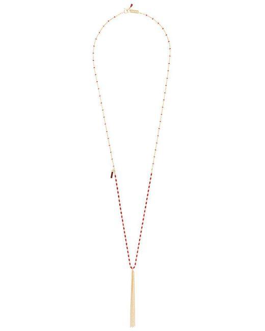 Isabel Marant - Metallic Enamelled Tassel Necklace - Lyst