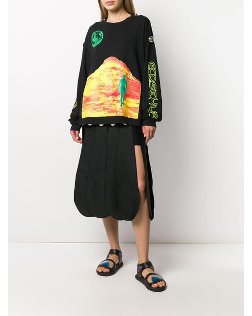 Christopher Kane Mountain Lady ロングtシャツ Black