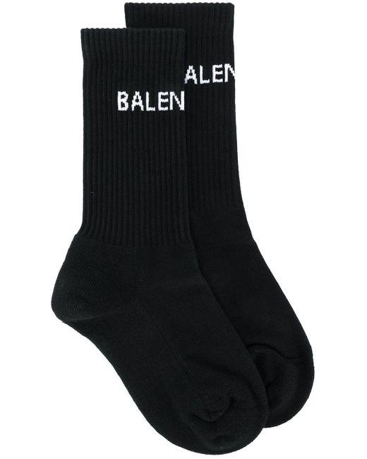 Balenciaga ロゴ 靴下 Black