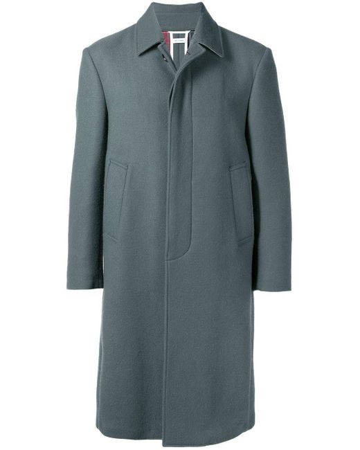 メンズ Thom Browne リラックスフィットカシミア バルカラー オーバーコート Gray