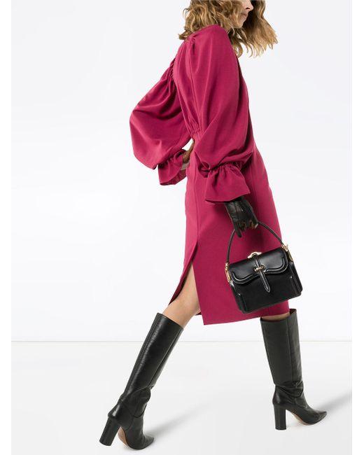 Roksanda フレアカフス ドレス Red