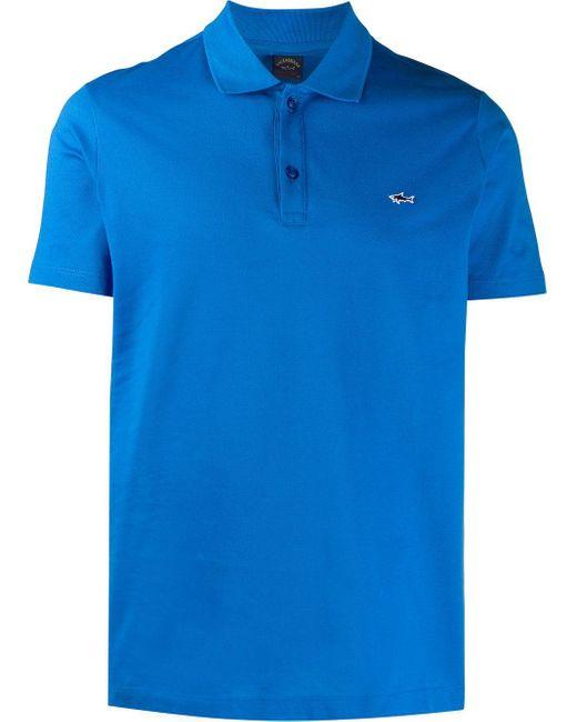 メンズ Paul & Shark スリムフィット ポロシャツ Blue