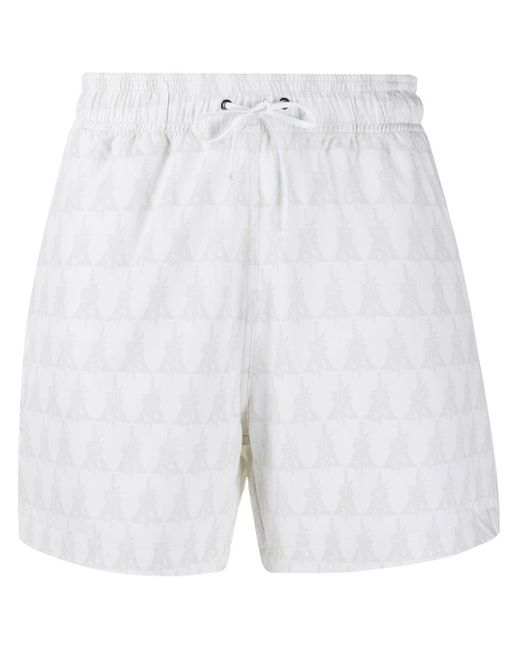 Amiri White Logo Print Swim Shorts for men