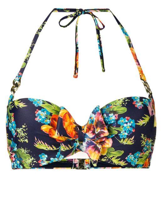 Marlies Dekkers Blue 'Jardin des Fleurs' Balconette-Bikinioberteil