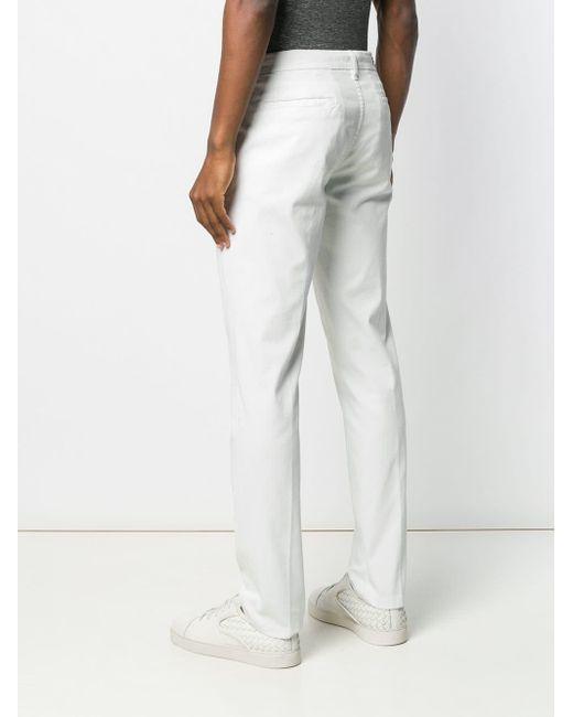 Pantalon chino droit Corneliani pour homme en coloris White