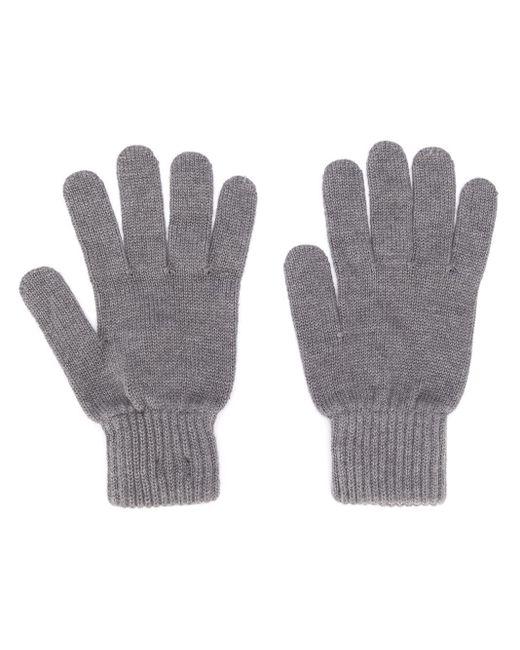 Calvin Klein ロゴパッチ ニット手袋 Gray